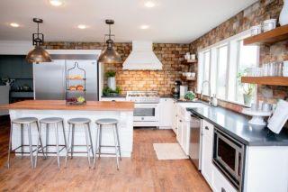 Stylish kitchen designs ideas with corner sinks 43
