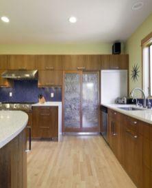 Stylish kitchen designs ideas with corner sinks 52