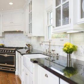 Stylish kitchen designs ideas with corner sinks 57