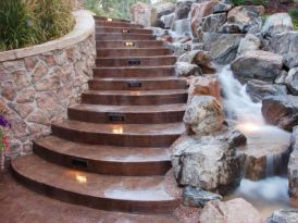 Stylish outdoor garden water fountains ideas 24