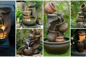 Stylish outdoor garden water fountains ideas 30