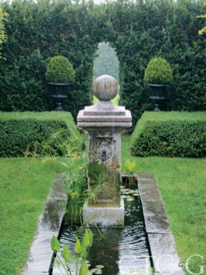 Stylish outdoor garden water fountains ideas 32
