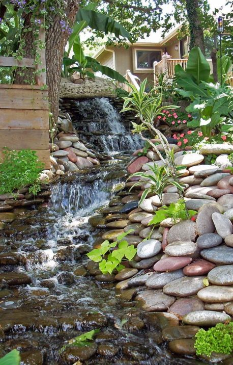 Stylish outdoor garden water fountains ideas 37