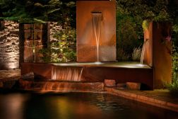Stylish outdoor garden water fountains ideas 43