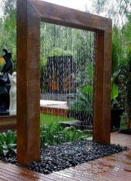Stylish outdoor garden water fountains ideas 50