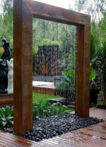 Stylish outdoor garden water fountains ideas 50