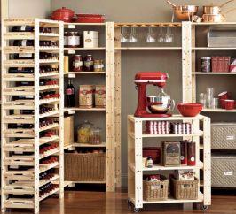 Amazing stand alone kitchen pantry design ideas (11)