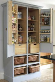 Amazing stand alone kitchen pantry design ideas (21)