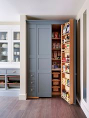 Amazing stand alone kitchen pantry design ideas (33)