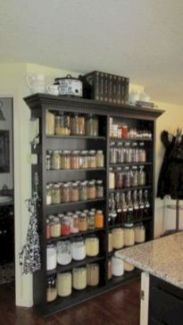 Amazing stand alone kitchen pantry design ideas (35)