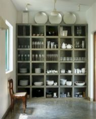 Amazing stand alone kitchen pantry design ideas (40)