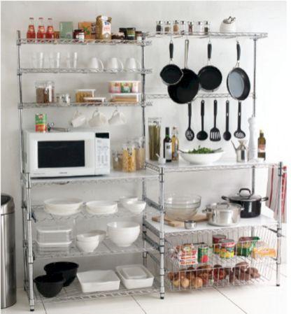 Amazing stand alone kitchen pantry design ideas (41)