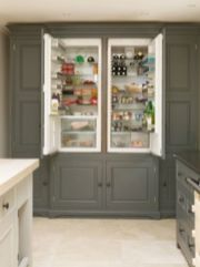 Amazing stand alone kitchen pantry design ideas (52)