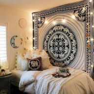 Cozy bohemian teenage girls bedroom ideas (18)