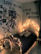 Cozy bohemian teenage girls bedroom ideas (20)