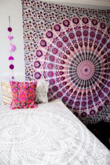 Cozy bohemian teenage girls bedroom ideas (25)