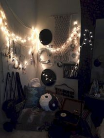 Cozy bohemian teenage girls bedroom ideas (33)