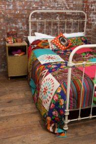 Cozy bohemian teenage girls bedroom ideas (34)