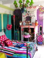 Cozy bohemian teenage girls bedroom ideas (57)
