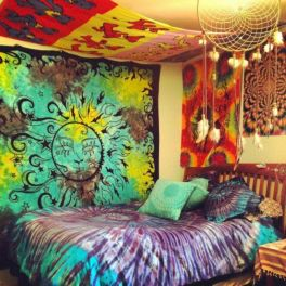 Cozy bohemian teenage girls bedroom ideas (7)