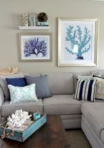 Creative diy beachy living room decor ideas (15)