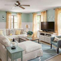 Creative diy beachy living room decor ideas (21)