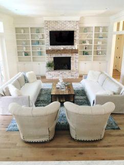 Creative diy beachy living room decor ideas (23)