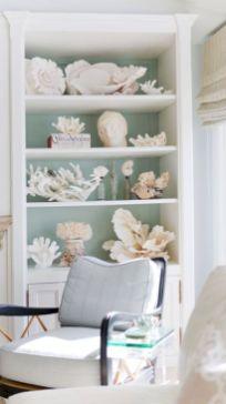 Creative diy beachy living room decor ideas (47)