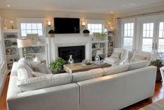 Creative diy beachy living room decor ideas (48)