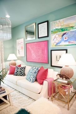Creative diy beachy living room decor ideas (50)