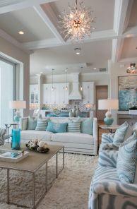 Creative diy beachy living room decor ideas (53)