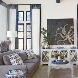 Creative diy beachy living room decor ideas (8)