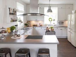 Inspiring u shaped kitchen ideas with breakfast bar (22)