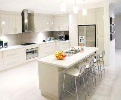 Inspiring u shaped kitchen ideas with breakfast bar (32)