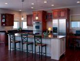 Inspiring u shaped kitchen ideas with breakfast bar (65)