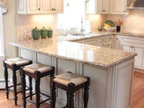 Inspiring u shaped kitchen ideas with breakfast bar (7)