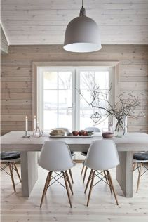 Mid century scandinavian dining room design ideas (10)