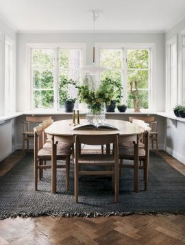 Mid century scandinavian dining room design ideas (23)