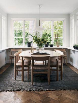 Mid century scandinavian dining room design ideas (23)