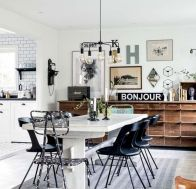 Mid century scandinavian dining room design ideas (36)