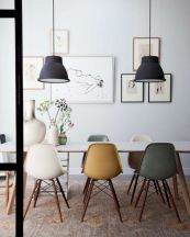Mid century scandinavian dining room design ideas (38)