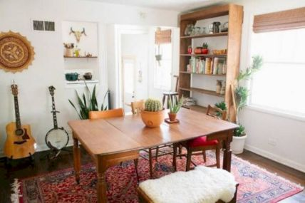 Mid century scandinavian dining room design ideas (4)