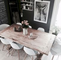 Mid century scandinavian dining room design ideas (45)