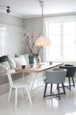 Mid century scandinavian dining room design ideas (47)