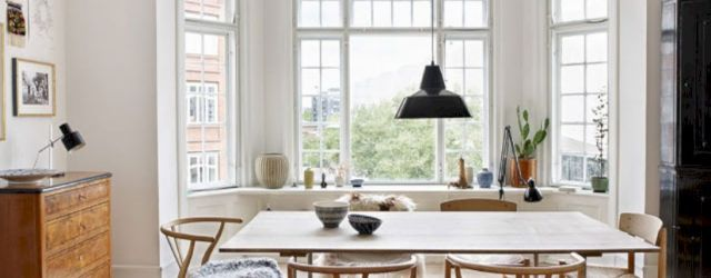 Mid century scandinavian dining room design ideas (53)