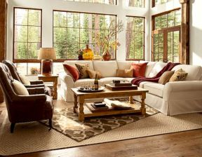 Modern leather living room furniture ideas (19)