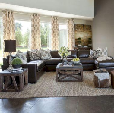 Modern leather living room furniture ideas (27)