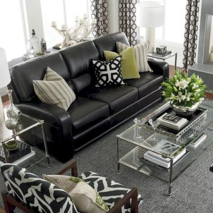 Modern leather living room furniture ideas (35)