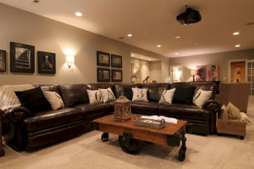 Modern leather living room furniture ideas (4)