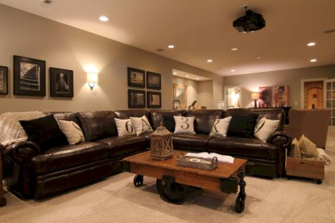 Modern leather living room furniture ideas (4)